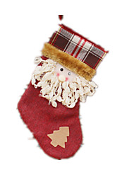 cheap -Gift Bag Socks Santa Suits Elk Cloth Plush Boys' Girls' Toy Gift