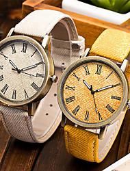 Недорогие -Жен. Наручные часы Кварцевый Стеганная ПУ кожа Черный Cool Аналоговый Мода - Зеленый Синий Розовый