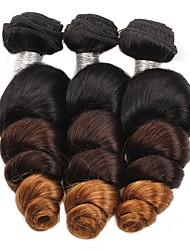 cheap -3 Bundles Brazilian Hair Loose Wave Human Hair 300 g Ombre Hair Weaves / Hair Bulk Human Hair Weaves Full Head Set Human Hair Extensions / 8A