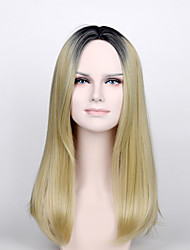 cheap -Synthetic Wig Natural Wave Natural Wave Wig Blonde Medium Length Light Blonde Synthetic Hair Women's Blonde