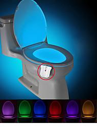 cheap -BRELONG 1 pc Upgrade Waterproof 8-color Human Body Motion Sensor PIR Toilet Night Light