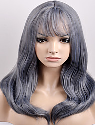 cheap -european and american women in the fashionable new year in qi liu qi dark gray wave high temperature wire wig