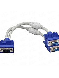 cheap -1 x VGA Male to 2 x VGA Female Cable VGA Splitter