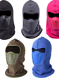 cheap -Hiking Hat Balaclava Thermal / Warm Windproof Solid Color Fleece Fall Winter for Men's Women's Skiing Camping / Hiking Hunting Blushing Pink Blue Brown