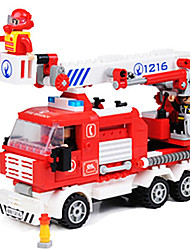 cheap -Action Figure Building Blocks Construction Set Toys Truck Fire Engine compatible Legoing Classic & Timeless Chic & Modern Cartoon Boys' Girls' Toy Gift / Educational Toy