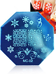 cheap -1PCS Christmas Nail Art Stamping Image Template Plates With Stamp