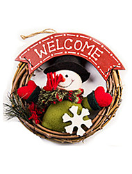 cheap -Christmas Decorations Snowman Lovely Textile Wood Imaginative Play, Stocking, Great Birthday Gifts Party Favor Supplies Boys' Girls' Adults'