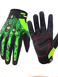 cheap -Winter Bike Gloves / Cycling Gloves Mountain Bike MTB Breathable Anti-Slip Sweat-wicking Protective Full Finger Gloves Touch Screen Gloves Sports Gloves Green White for Adults' Outdoor