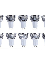 cheap -5 W LED Spotlight 3000/6500 lm GU10 4 LED Beads COB Dimmable Warm White White 220-240 V 110-130 V / 10 pcs / RoHS