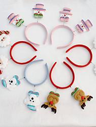 cheap -Holiday Decorations Animals / Snowmen / Santa Ornaments Cartoon / Party / Novelty Sky Blue / Red / Pink