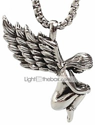 cheap -Men's Women's guardian angel Ladies Fashion Titanium Steel Brooch Jewelry Silver For Daily