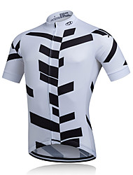 cheap -Fastcute Men's Short Sleeve Cycling Jersey Cycling Jacket Polyester Bike Jersey Mountain Bike MTB Road Bike Cycling Breathable Quick Dry Sweat-wicking Sports Clothing Apparel / Stretchy / Advanced