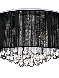 cheap -4-Light 40CM(15.6inch) Crystal Flush Mount Lights Crystal Fabric Brushed Modern Contemporary 110-120V / 220-240V / E12 / E14
