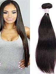 cheap -3 Bundles Brazilian Hair Straight Virgin Human Hair Natural Color Hair Weaves 8-30 inch Human Hair Weaves Natural Black Human Hair Extensions Women's