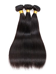 cheap -3 Bundles Indian Hair Straight Human Hair Natural Color Hair Weaves / Hair Bulk 8-28 inch Human Hair Weaves Human Hair Extensions / 8A