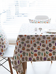 cheap -Square Patterned Animal Table Cloth , Linen Material Hotel Dining Table Table Decoration