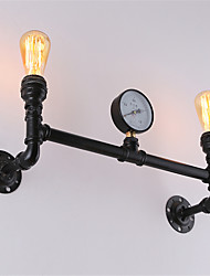 cheap -Vintage Industrial Pipe Wall Lights Black Creative Lights Restaurant Cafe Bar Wall Sconces 2-Light Painted Finish