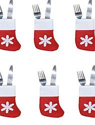 Недорогие -Рождественские носки столовые приборы лоток маленькие носки