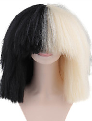 cheap -Synthetic Wig Afro Afro Full Lace Wig Medium Length Natural Black Synthetic Hair Women's 100% kanekalon hair Natural Hairline Black