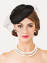 cheap -Wool Net Fascinators Hats Headpiece Classical Feminine Style