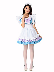 cheap -Maid Costume Career Costumes Cosplay Costume Party Costume Women's Maid Uniforms Christmas Halloween Festival / Holiday Polyester Women's Carnival Costumes Solid Colored Plaid / Headwear