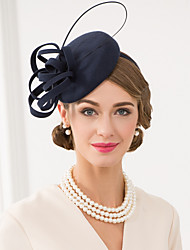 cheap -Wool / Feather Kentucky Derby Hat / Fascinators / Hats with Floral 1pc Wedding / Special Occasion / Casual Headpiece