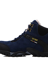 cheap -Men's Fashion Boots Spandex / Leather / Suede Fall / Winter Casual Boots Hiking Shoes Booties / Ankle Boots Black / Blue / Rivet / Outdoor