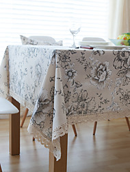 cheap -Square Toile Table Cloth , Linen Material Hotel Dining Table Table Decoration