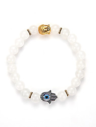 cheap -Men's Women's Bead Bracelet Yoga Bracelet Synthetic Gemstones Bracelet Jewelry Gold / Silver For Wedding Party Birthday Congratulations Business Gift