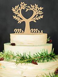 cheap -The wedding cake inserted card Wedding wedding cake inserted personalized wedding wedding decoration wood plug