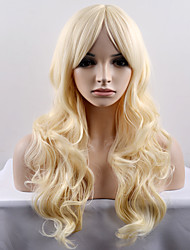 cheap -Synthetic Wig Natural Wave Natural Wave Wig Blonde Long Very Long Light Blonde Synthetic Hair Women's Blonde