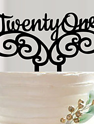 cheap -English letters acrylic wedding cake inserted fine decoration birthday cake inserted card