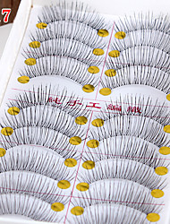 cheap -Eyelash Extensions Makeup Tools False Eyelashes 20 pcs Lifted lashes Volumized Extra Long Fiber Daily Full Strip Lashes Natural Long The End Is Longer - Makeup Daily Makeup Cosmetic Grooming Supplies