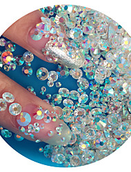 cheap -1440pc bag high quality nail art jewelry nail rhinestones decorations crystal glitter assorted 6 sizes