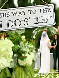 cheap -Europe and the United States wooden rectangular wedding listed Wooden creative quotation sign bridal wedding props