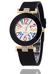 cheap -Women's Bracelet Watch Quartz Silicone Black / White / Blue Hot Sale Analog Ladies Vintage Casual Fashion - Black Brown Light Blue