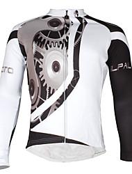 cheap -ILPALADINO Men's Long Sleeve Cycling Jersey Winter Fleece Polyester Elastane Gear Bike Jersey Mountain Bike MTB Road Bike Cycling Waterproof Windproof Fleece Lining Sports Clothing Apparel / Stretchy
