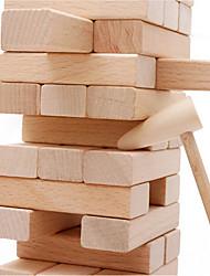 cheap -Muwanzi 54 pcs Stacking Game Wooden Blocks Jenga Wooden Professional Balance Kid's Adults' Toys Gifts