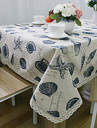 cheap -Rectangular Patterned Table Cloth , Linen / Cotton Blend Material Hotel Dining Table Wedding Party Decoration Wedding Banquet Dinner