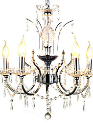 cheap -QINGMING® 5-Light 56cm(22inch) Crystal Chandelier Metal Chrome Traditional / Classic 110-120V / 220-240V