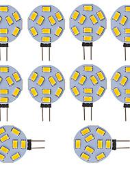 cheap -10 pcs G4 LED Round Range Lamp Bulb 15 LEDs 5730 SMD 12V - 24V DC  AC White Warm Cold White