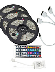 cheap -15M(3*5M) 5050 900 LEDs 10mm RGB Waterproof with 44Keys IR Remote Controller Flexible LED Strip Light