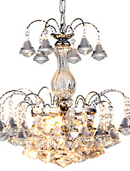 cheap -QINGMING® 3-Light 38cm(15inch) Crystal Chandelier Metal Chrome Traditional / Classic 110-120V / 220-240V