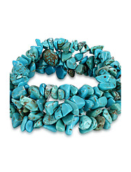 cheap -Women's Crystal Natural Stone Chain Bracelet Aquarius Ladies Unique Design Fashion Birthstones Crystal Bracelet Jewelry Blue For Birthday Gift Daily / Turquoise