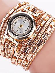 cheap -Women's Bracelet Watch Wrist Watch Quartz Quilted PU Leather Black / Blue / Silver Luminous Cool Punk Analog Ladies Charm Sparkle Vintage Candy color - Blue Pink Light Blue