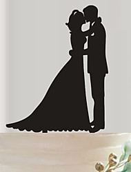cheap -The bride and groom acrylic wedding cake inserted fine decoration birthday cake inserted card