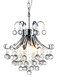 cheap -QINGMING® 3-Light 35cm(29.5inch) Crystal Chandelier Metal Chrome Traditional / Classic 110-120V / 220-240V