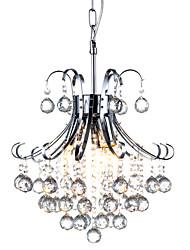 cheap -QINGMING® 3-Light Chandelier Downlight Chrome Metal Crystal 110-120V / 220-240V Bulb Not Included / E12 / E14