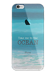 cheap -Case For Apple iPhone 7 Plus / iPhone 7 / iPhone 6s Plus Translucent Back Cover Scenery Soft TPU