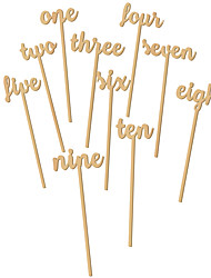 cheap -Wood Table Center Pieces - Non-personalized Placecard Holders 12 pcs Spring / Summer / Fall